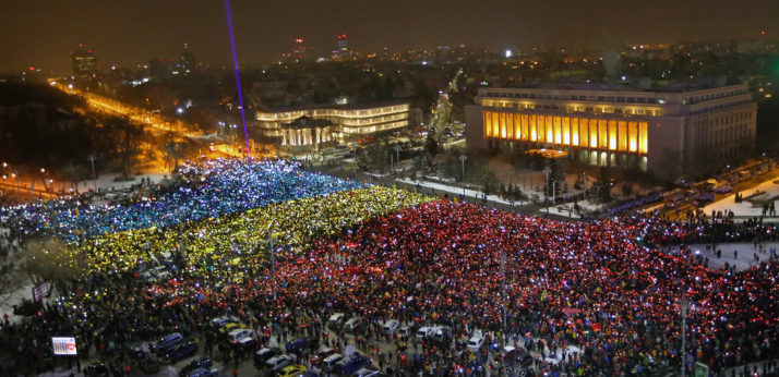 Anti-government protest continues in Bucharest